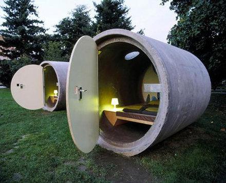 Pipe-dreaming … Austria's Drain Pipe Hotel.