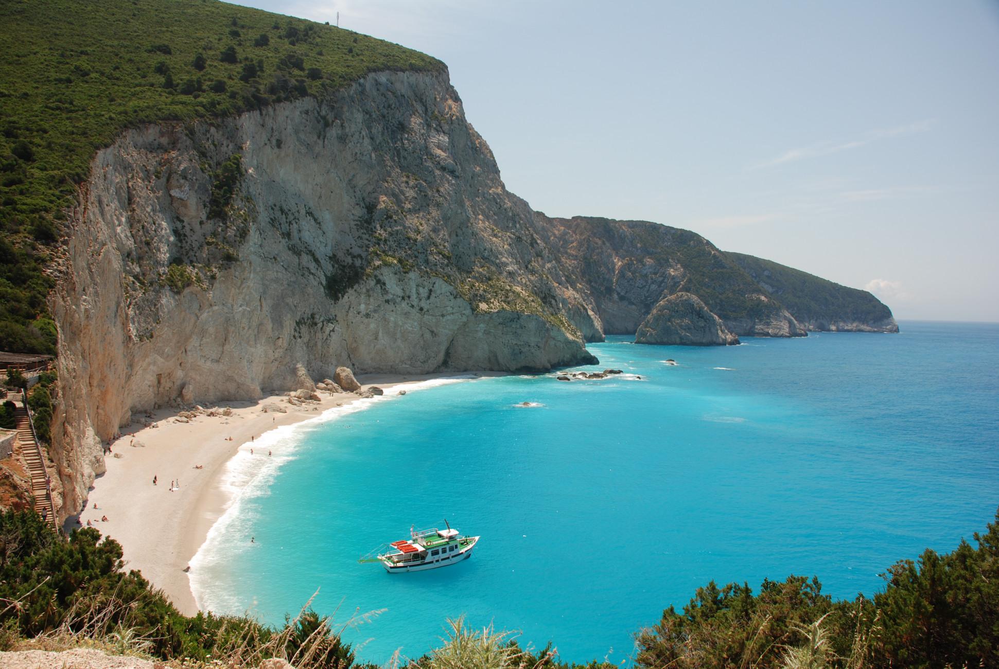 Plaja in Lefkada, Grecia